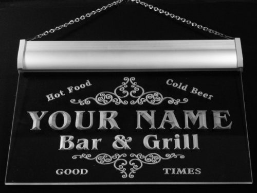 Image of u29451-r MCFARLANE Family Name Bar & Grill Home Beer Food Neon Sign