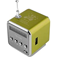 Portable Aluminum Alloy Micro USB Mini Stereo Super Bass Speaker Ubwoofer Musica MP3/4 FM Radio Receiver