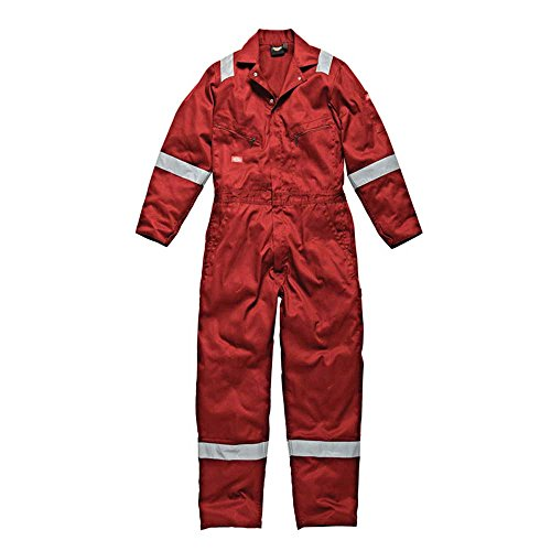DICKIES MENS WORKWEAR COTTON COVERALL RED WD2279R