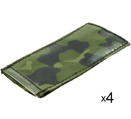 BE-X ID Hüllen -Modular ID Tags- auf Klett, 5x10cm, z.B. für Einleger, - 4 Stück - dänisch tarn