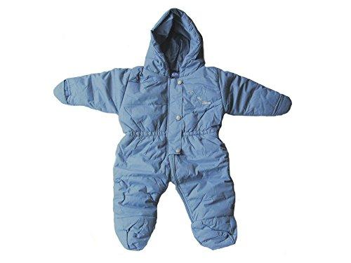 Baby Kleinkind Schnee-Overall, Skianzug, Schneeanzug mit Bärchen-Apllikation, Blau, AM-KI-JU-Ski-JK103, Körpergröße in cm:74 cm