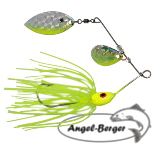 Angel-Berger Spinnerbait 16g Spinner (Neon Gelb)