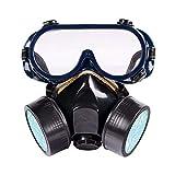 BALLSHOP Atemschutzmaske Staubmaske Schwarz Schutzmaske Atemmaske mit Schutzbrille