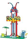 Modbrix Bausteine Free Fall Tower Kirmes Fahrgeschäft 337 Bausteine, 36 cm