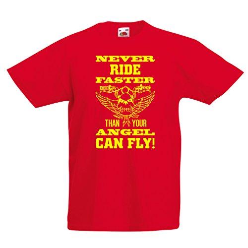 lepni.me Kinder T-Shirt Motorradkleidung (7-8 years Rot Mehrfarben)