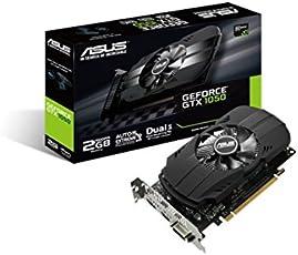 ASUS PH-GTX1050-2G Nvidia GeForce Grafikkarte (PCIe 3.0, 2GB DDR5 Speicher, HDMI, DVI, DisplayPort)
