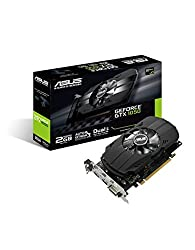 Asus Ph-gtx1050-2g Nvidia Geforce Gtx 1050 2 Gb Gddr5 Pcie 3.0 X16 Dvi Graphics Card - Black