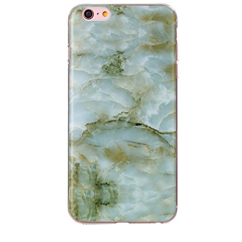 """MOONCASE Ultra-mince Motif Marbre Naturel Noir Rayure TPU Silicone Housse Coque Etui Gel Case Cover Pour iPhone 6 Plus / 6S Plus 5.5"""" Vert"""