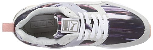 Puma Aril Fast Graphic Wn's, Baskets Basses femme Gris - Grau (glacier gray-white 02)