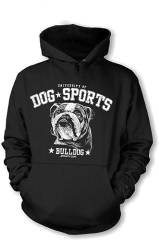 Fun Spruch Hoodie Dog Sports Bulldog Grösse