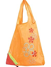 Designeez Hot Fashion Cute Strawberry Foldable Reusable Shopping Storage Bag Women Travel Grocery Bags Tote (Orange)