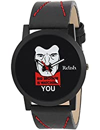 RELISH RE-S8081BB Black Slim Analog Watches For Boys And Mens