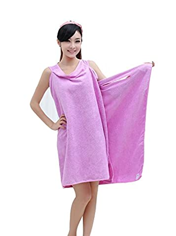 Womens Bath Towels And Girls Bathrobe Towels Wearable Shower Wrap