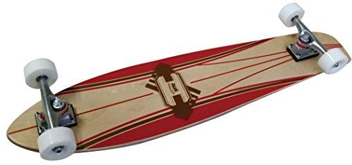 Longboard LA Sports Concave Cruiser Board komplett mit ABEC 5 Kugellager konkaves Single Kicktail Deck 36