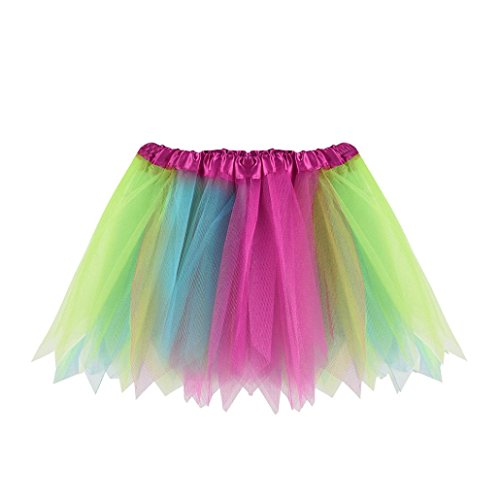 8 Ball T-stücke (MCYs Mädchen Tutu Damenrock Tüllrock 50er Kurz Ballet Tanzkleid Unterkleid Cosplay Crinoline Petticoat für Rockabilly Kleid (Blau))