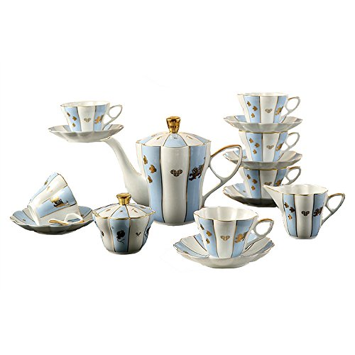 ufengke-ts Porzellan Kaffee-Set Tee-Design, 15Stück