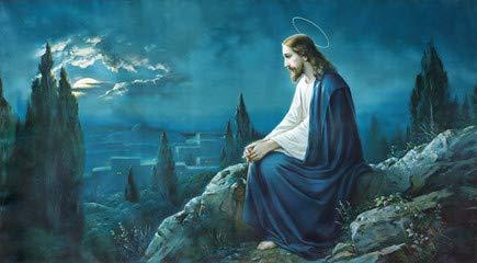 """Leinwand-Bild 70 x 40 cm: """"The prayer of Jesus in the Gethsemane garden."""", Bild auf Leinwand"""