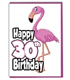 Pink Flamingo 30. Geburtstag–Damen–Tochter–Geburtstagskarte für Enkelin–Schwester–Freund