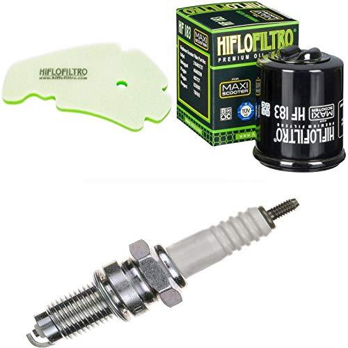 Luftfilter Ölfilter Zündkerze für MP3 300 LT i.e. Yourban Baujahr 2011-2016 Servicekit Wartungskit - Piaggio Mp3 Yourban