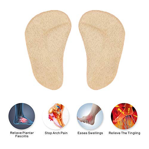 Orthopedic Arch Support Insoles for Children Kid 1-6 Years Old, Corrective O/X Type Orthotic Inserts, Flatfeet Correction Shoe Insoles, Adhesive Forefoot Cushioning Pads for Bowlegs Knock Knees