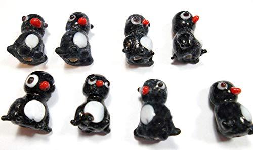 Perlin - 16Stk. Kinder Perlen Porzellanperlen Keramikperlen Tier-Perlen Pinguin Keramische Porzellan Perlen in schwarz/weiß Zwischenperlen Perle Zum Fädeln D207A x2