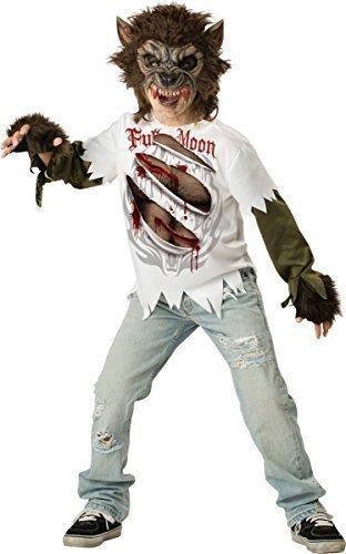 Ältere & Teenage Jungen Werwolf Halloween Horror Animal Kostüm Kleid Outfit 6-15 jahre - 6-7 (Werwolf Outfit)