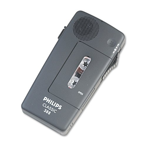 philips-lfh0388-analogue-dictation-recorder-voice-activation-internal-battery-recharge-slide-switch-