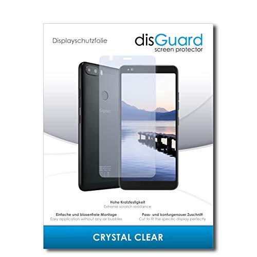 disGuard® Bildschirmschutzfolie [Crystal Clear] kompatibel mit Gigaset GS370 Plus [3 Stück] Kristallklar, Transparent, Unsichtbar, Extrem Kratzfest, Anti-Fingerabdruck - Panzerglas Folie, Schutzfolie