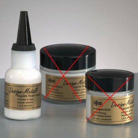 Emulsion de colle épais, 25 ml, pour feuille d'or, d'argent,