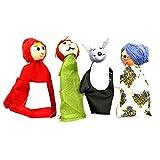 Rotkäppchen Fingerpuppen Lernspielzeug Storytelling Puppe Niedlichen Mini-Spielzeug Für Kleine...