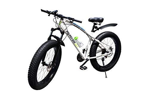 Phantom Set Fat Bike 26 Pollici 21 Marce Shimano Fat Mountain Bike