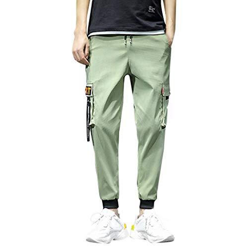 Herren Multi-Pocket Werkzeug Einfarbig Mode Freizeit Bequeme Hose
