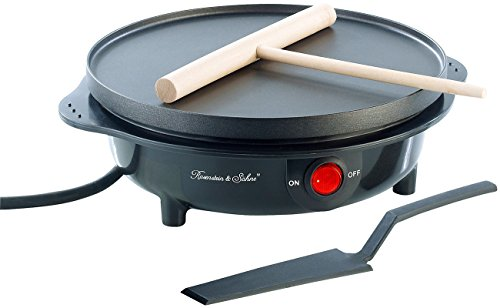 Rosenstein & Söhne Mini Crepes Maker: Elektrischer Mini-Crêpes-Maker PKM-100, 500 Watt, Ø 18 cm (Crpe Maker)