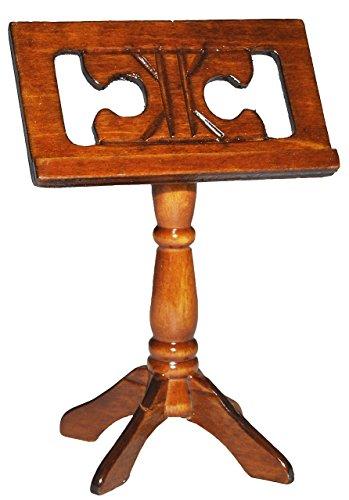 Miniatur Notenständer aus Holz - Maßstab 1:12 - Puppenhaus Notenpult - Musikinstrument Musik Noten Instrument Note