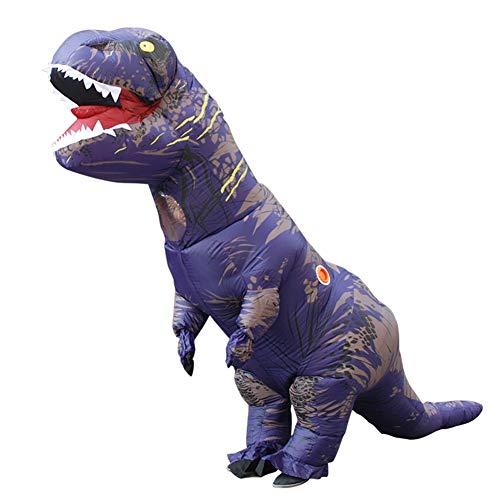 I-JUN Aufblasbare Erwachsene Dinosaurier-Kostüm Halloween Makeup Party Kleid T-Rex Kleidung Cosplay Tierkostüm,Purple