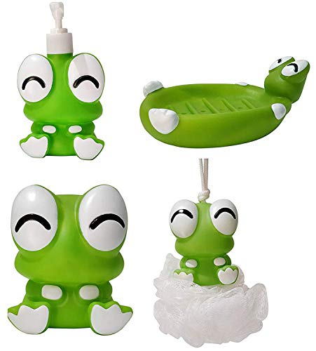 Kabello Bathroom Set for Kids, Bathing Accessories for Home Use for Kids, Cartoon Character Bathroom Set, Pack of 1 (M4)