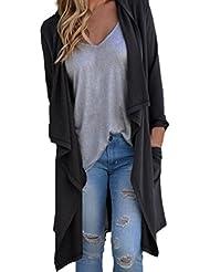 Tongshi Capa de la chaqueta de las mujeres de manga larga Cardigan irregular flojo Outwear