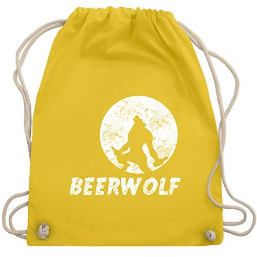 Statement Shirts - Beerwolf - Unisize - Gelb - WM110 - Turnbeutel & Gym Bag