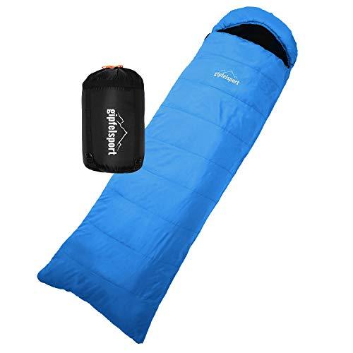 gipfelsport Schlafsack, rechteckig - Outdoor Thermoschlafsack für Erwachsene und Kinder | blau