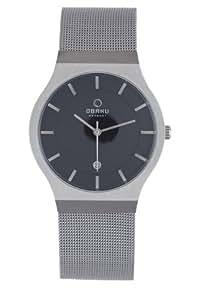 Obaku by Ingersoll gents black dial stainless steel mesh bracelet watch