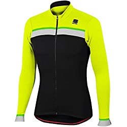 Maillot Sportful Pista Thermal Amarillo-Negro 2017