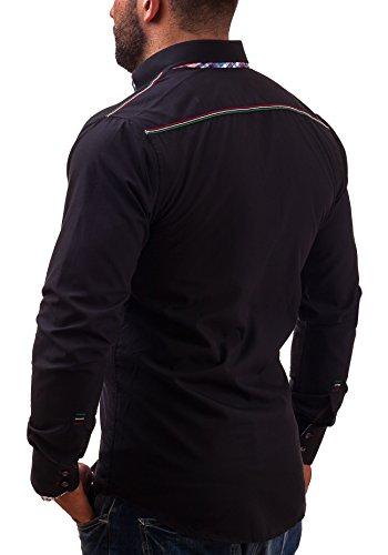 BOLF - Chemise casual - BOLF 3701 - Homme Noir