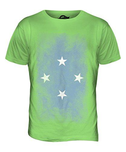 CandyMix Mikronesien Verblichen Flagge Herren T Shirt Limettengrün