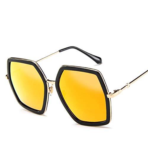 WERERT Sportbrille Sonnenbrillen Square Sunglasses Women Vintage Retro Big Frame Sunglasses Female Sun Glasses For Women Shades