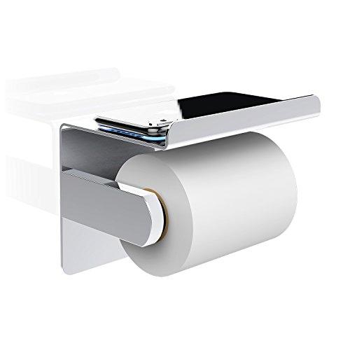 ... Toilettenpapierhalter Mit Deckel Aus Edelstahl Rollenhalter Bohren  Wandmontage Ständer Regal Für Küche Und Bad