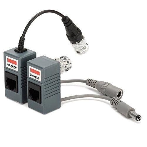 VulTech Security SA32301 Coppia Video Balun, Passivo, Video e Alimentazione,