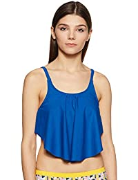 Amante Women's Flounced Swim Crop Top
