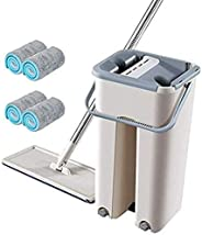 U-HOOME Spray Mop for Floor Cleaning, Microfiber Floor Mop With Refillable Spray Bottle and 2 Washable Pads, F