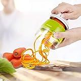 ADORIC Spiralschneider Hand [ 3 in 1 ] Gemüse Spiralschneider, Gemüsehobel für Karotte, Gurke,...