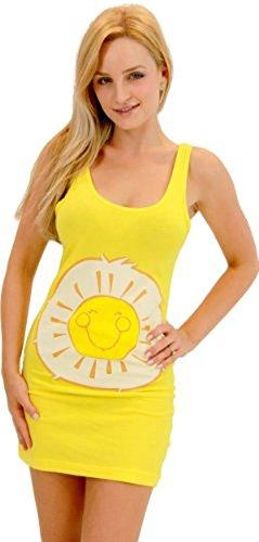 Care Bears Sunshine Bear gelb Kostüm Tunic Tank Kleid (Sunshine Bear) (gelb) (Junior Medium)